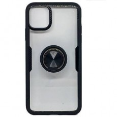 Iphone 11 Carbon Clear Ring Black