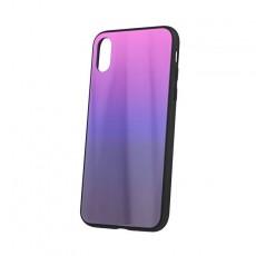 Iphone x/xs pink/black aurora glass