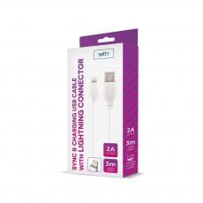 USB Kaabel Iphone 3m 2A Setty