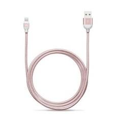 USB Kaabel Iphone Metal Rose Gold 1m 2A