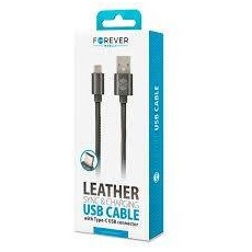 USB Kaabel Typ C Leather 1m 2A Forever