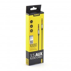 Aux Jack 3.5mm L100 1m Black Remax