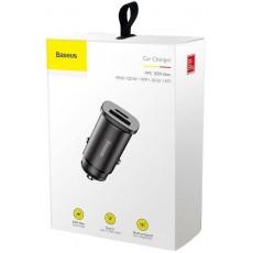 Auto Akulaadija Adapter 2-USB 30W Black Baseus