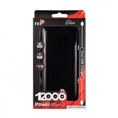 Universal Power Bank Slim 12000 mAh Tel1