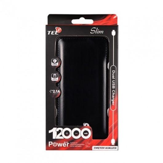 Universal Power Bank Slim 12000 mAh Tel1